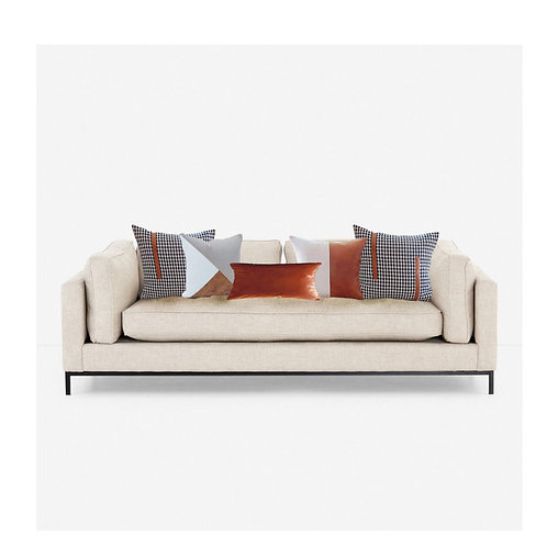 Faux Leather Cushion Cover Combo- Set of 5