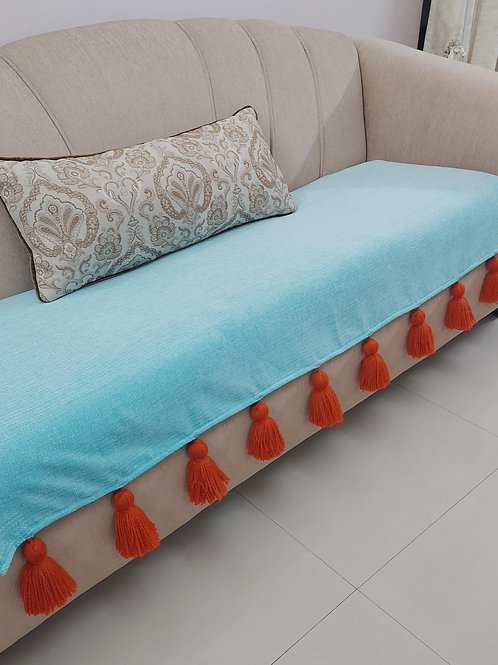 Caribbean Blue Throw/Couch Cover