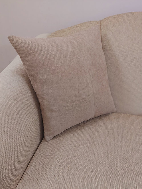 Brown Self Textured Cushion Cover