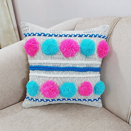 Monster Ball Pom-Pom Cushion Cover