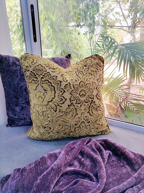 Self- Patterned Vintage Cushion Cover
