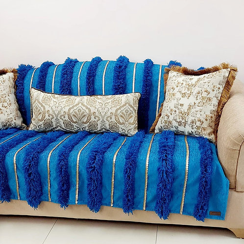 Moroccan Wedding Tufted Teal Throw/Couch Cover