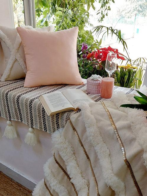 Peachy Solid Cushion Cover