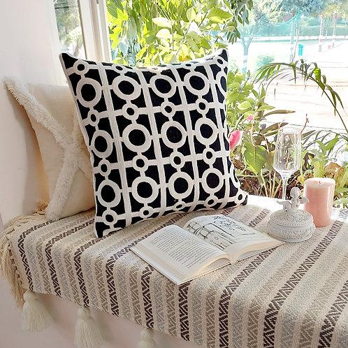 Jaali Cutout Design Cushion Cover