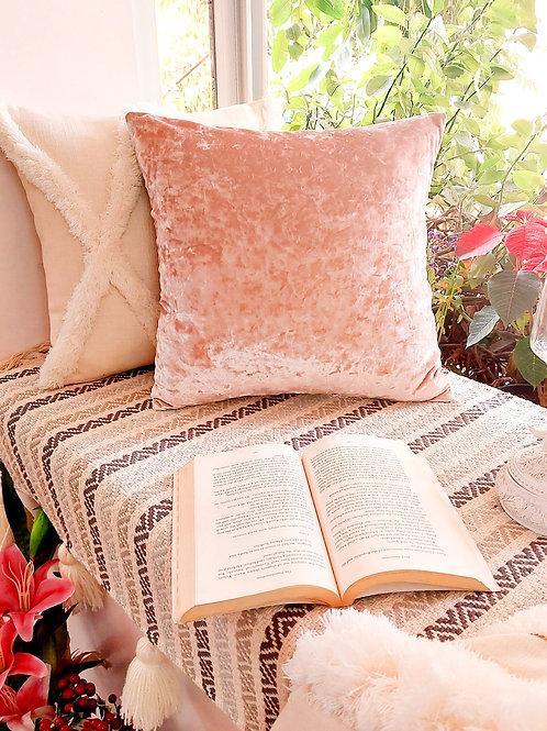 Blush Crush Textured Velvet Cushion Cover