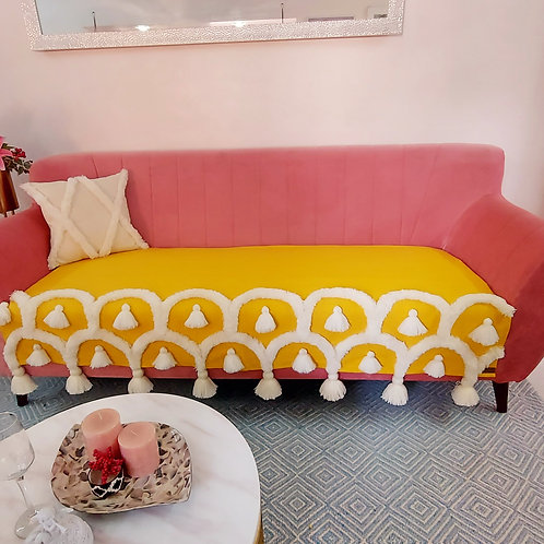 Boho Sunshine Tufted Tassel Throw/Couch Cover