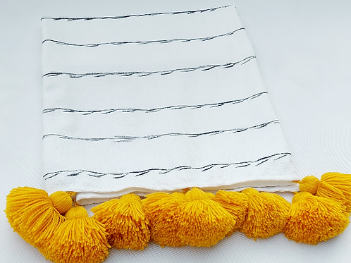 Tribal Striped Tassel Throw/ Couch Cover