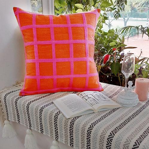 Windowpane checks Cushion Cover