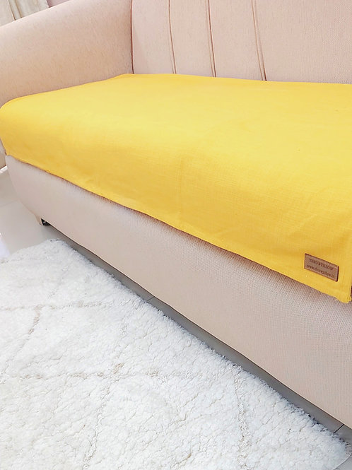 Luxe Solid Couch Cover- Yellow