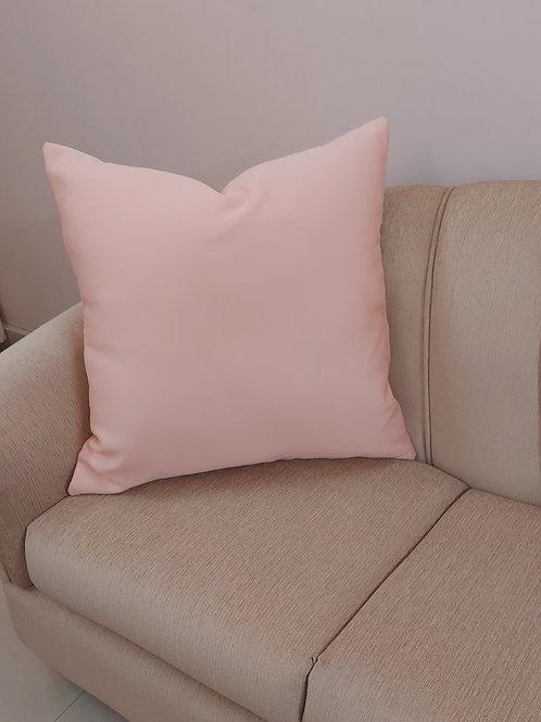 Blush Solid Cushion Cover
