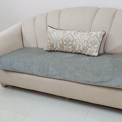 Luxe Solid Couch Cover- Grey
