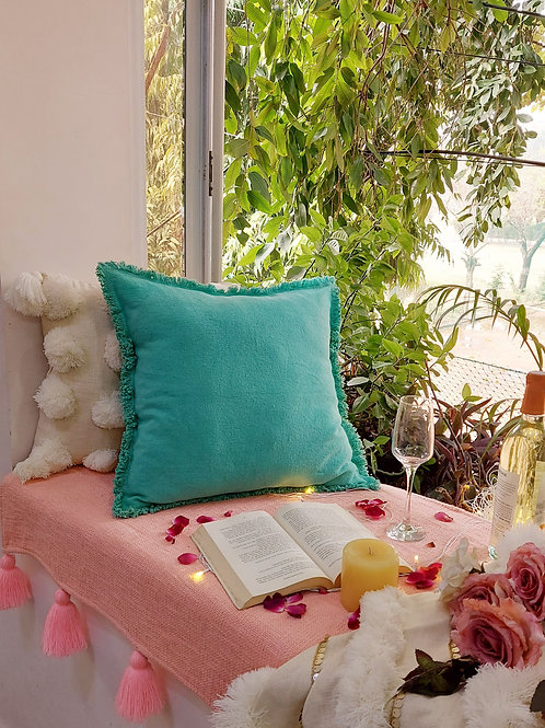 Sea Green Solid Cushion Cover