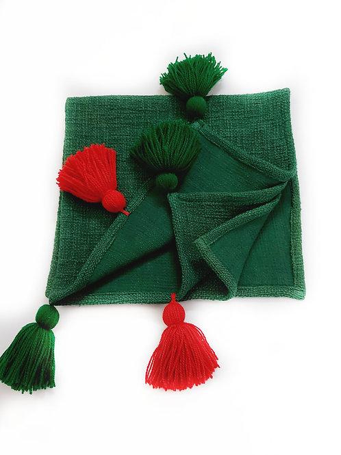 Forest Green Textured Armrest Cover - 55cms x 65cms