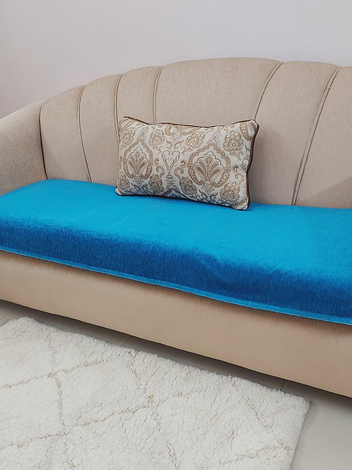 Luxe Solid Couch Cover-Blue