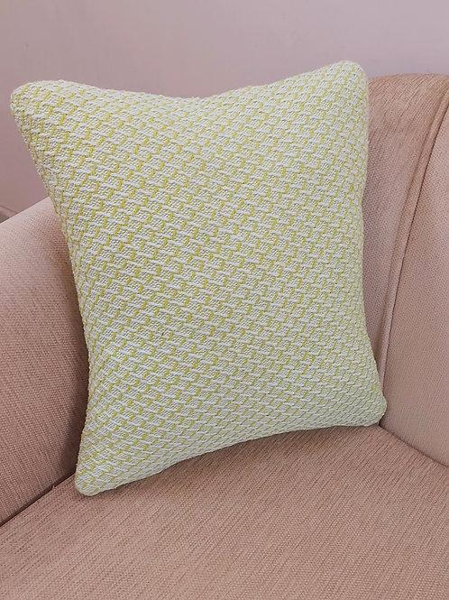 Mint Green Woven Design Cushion Cover