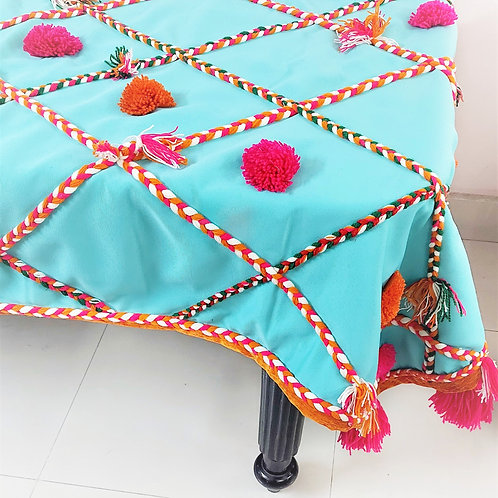 Mint Green Bohemian Table Cover