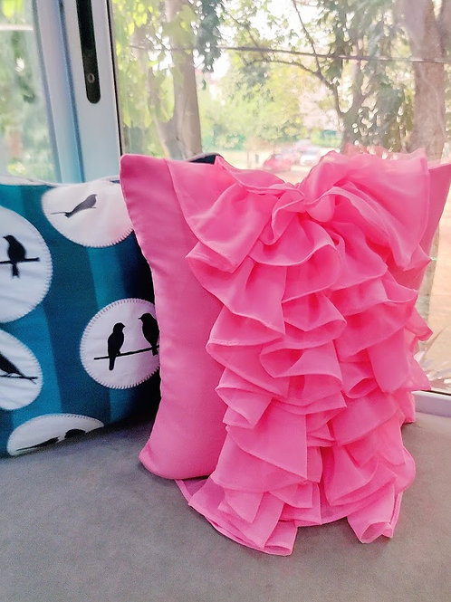 Cascading Ruffled Cushion Cover