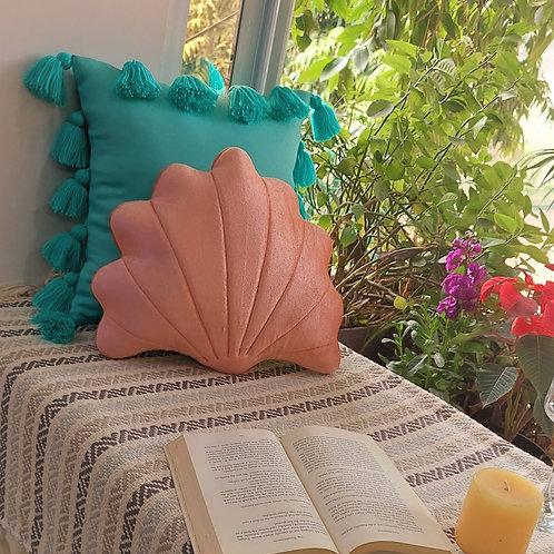 Blush SeaShell Velvet Cushion Cover