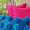 Thumbnail: Teal Pom Pom Embellished Over Size Cushion Cover