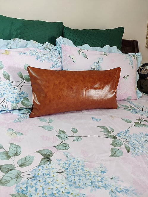 Luxe Faux Leather  Cushion Cover