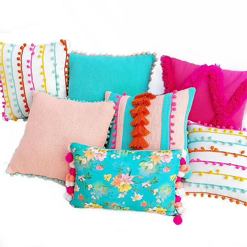 Trippy Tropical Cushion Cover Combo- Set of 7