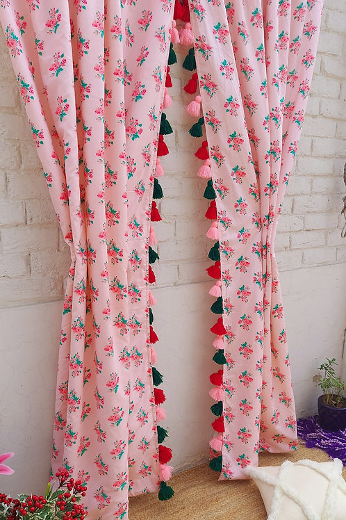 Ditsy Florals Printed Curtains