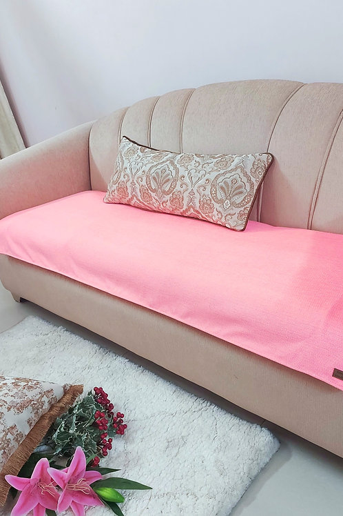 Luxe Solid Couch Cover-Carrot Pink