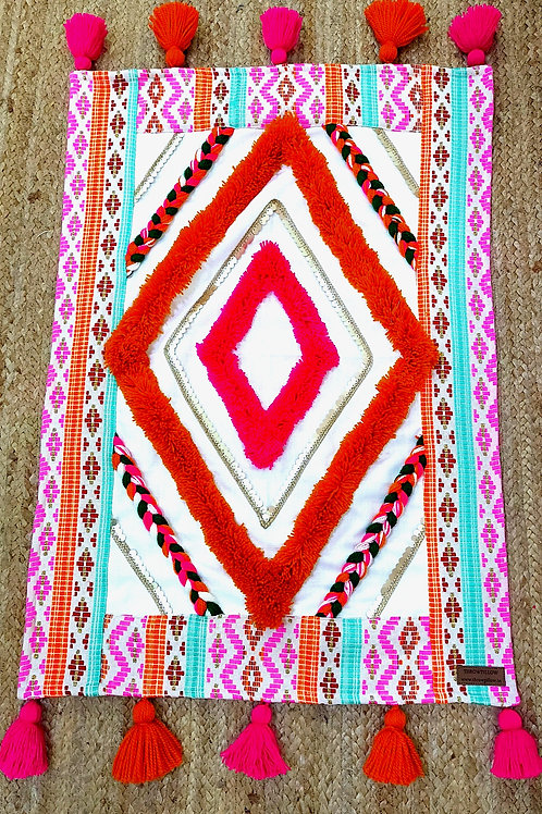 Classic  Rug with Multicolored Work