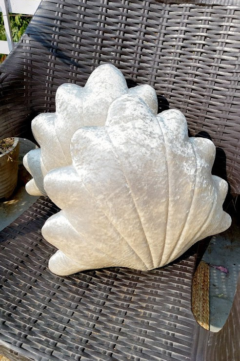Seashell Cushion Cover with filler- Pearl Shade