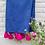 Thumbnail: Navy Blue Throw with Fuchsia Pink Tassels