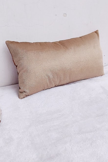 Solid Bronze Lumbar Cushion Cover- 12x18 in