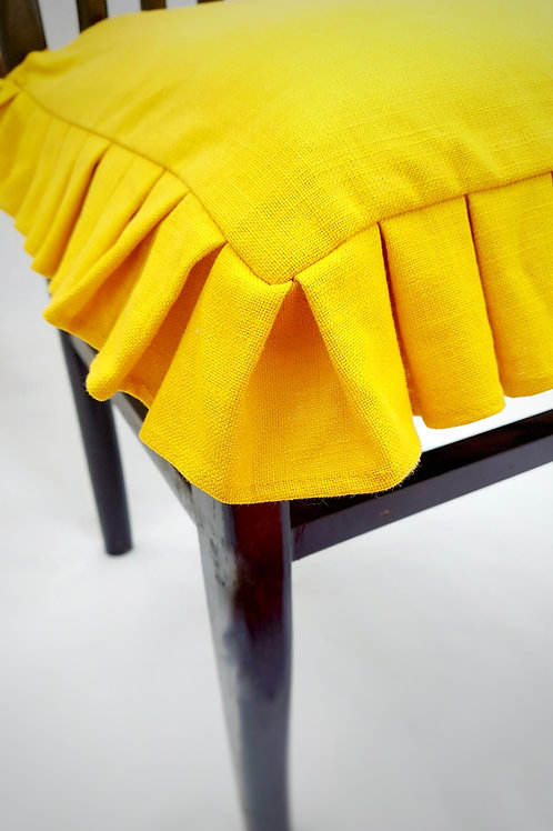 Mustard Box Pleated Seat Cover