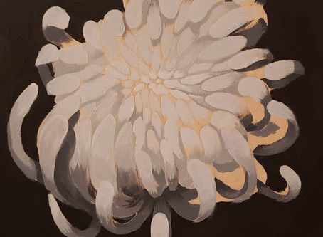 My first Chrysanthemum painting
