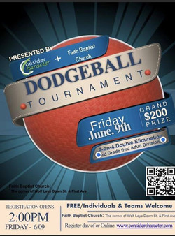 Dodge Ball Tournament 6-9-17