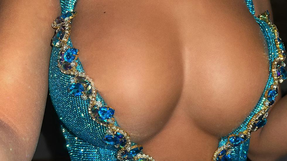 Princess jasmine rhinestone corset bra