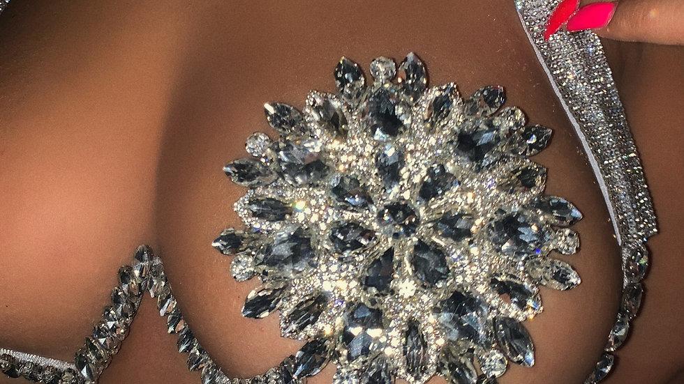 Burlesque rhinestone wire bra