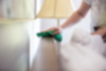 Drop The Mop -Woman Cleaning Furniture