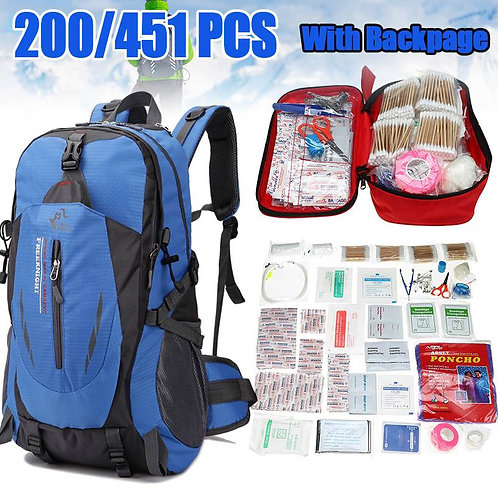 451Pcs/200Ppcs First Aid Emergency Medical Bag