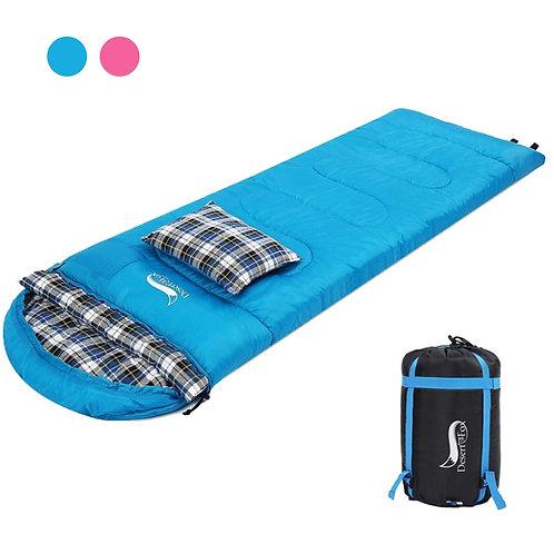 Desert&Fox Soft Flannel Sleeping Bag With Pillow