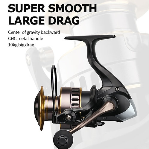 HE1000-7000 Spinning Reel Max Drag 10kg 5.2:1 High Speed