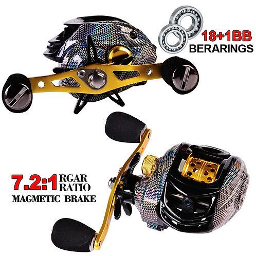 Baitcasting Fishing Reel Water Drop Magnetic Brake System 18+1