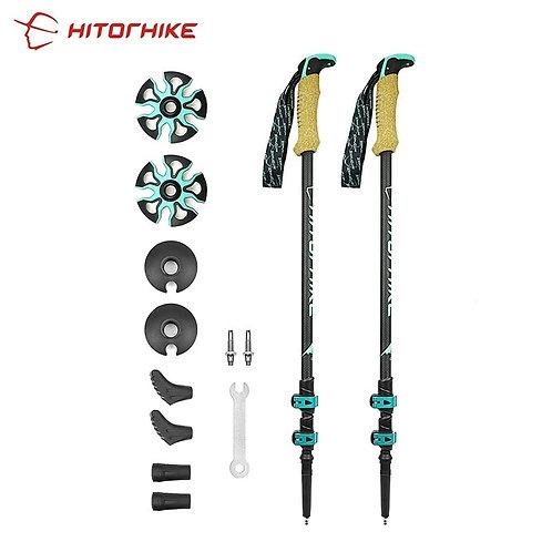 Carbon Fiber External Quick Lock Trekking Poles