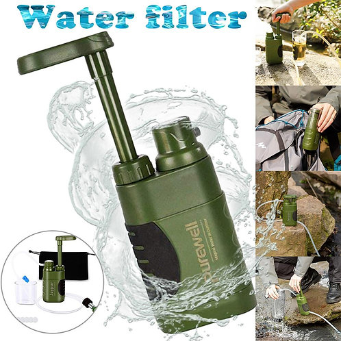 Water Purifier Pump With Replaceable Carbon 0.01 Micron 4 Filter