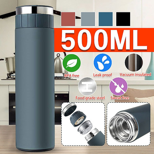 Portable 500ML Thermo Vacuum Flasks 304 Stainless Steel