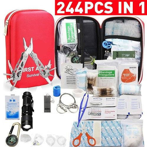 244/178/101pcs First Aid Bag Kit