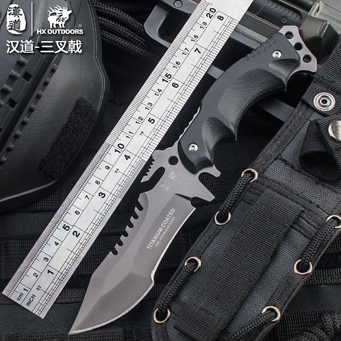 58HRC Hardness Tactical Survival Knife