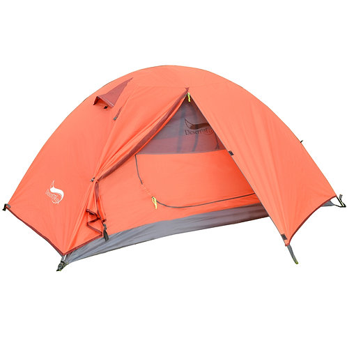 Desert&Fox Backpacking Camping Tent Lightweight 1-3 Person Tent Double Layer