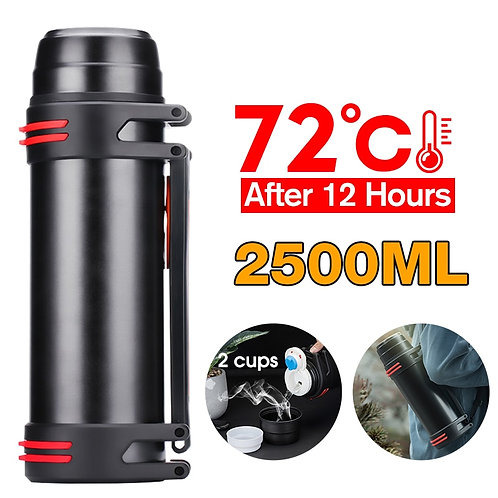 3 Colors 1200-2500ml Stainless Steel Thermos Bottle Vacuum Flask