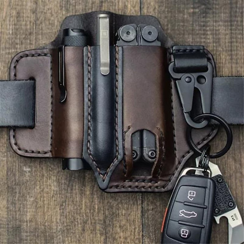 Tactical Belt Leather Sheath for Multitools