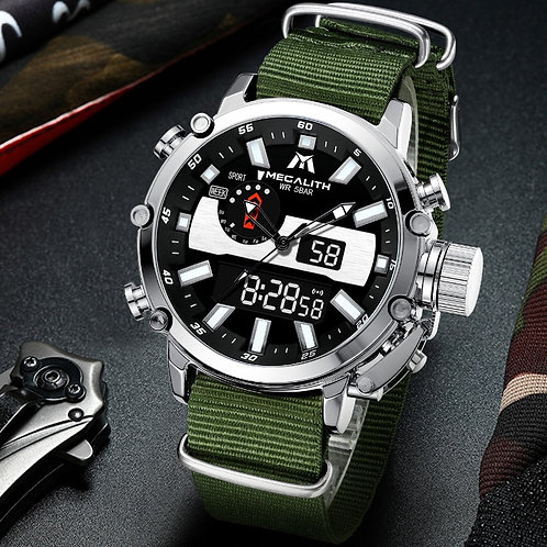 MEGALITH Men's Digtal/Analog Watch